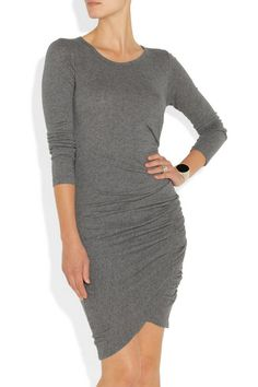 CLU | Ruched cotton-jersey dress | NET-A-PORTER.COM