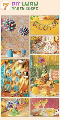 7 DIY Luau Party Ideas from Oriental Trading Company.. we have luau parties every year since I was little lol.