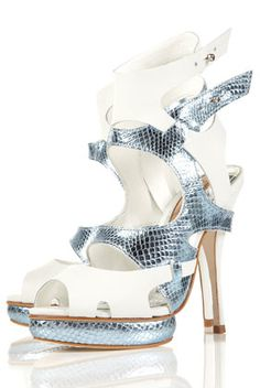 Topshop Player Cut Out High Sandals Topshop Heels, Shoe Boots, Shoes Heels, High Sandals, Style Finder, Metallic Heels, Sports Luxe, Sport Chic, Casual Boots
