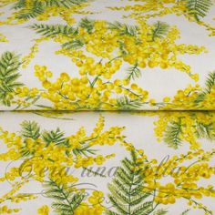Merceriaceraunavolta.it | Tessuto Damascato stampa Mimosa