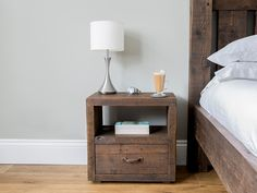 6f45774afc Branson 1 draw rustic wooden bedside table #eatsleeplive #reclaimedwood  #bedroom Large Sideboard,. Eat Sleep Live