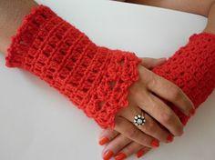 Crochet Red Cuff