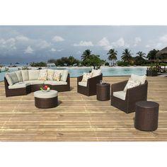 Sirio Wicker Resin 8-piece Outdoor Furniture Set   Overstock.com
