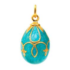 Angel Egg Pendant Blue, 70€, now featured on Fab.