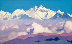 Kanchenjunga, Oil by Nicholas Roerich (1874-1947, Russia)