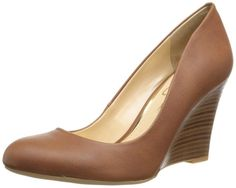 Jessica Simpson Women's Cash Wedge Pump, Almond, 5.5 M US I wear them all day to work, they are very comfy!!!