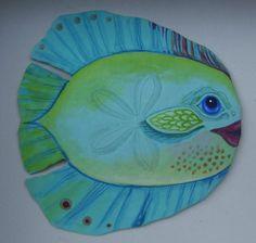 Sand dollar I painted to look like a fish.  www.markballard.com