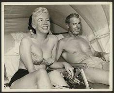 Marilyn Monroe and Joe DiMaggio at Redington Beach, Florida, 1961