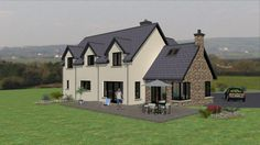 When you nee a new roof on your home, there is a lot you have to consider. You want to find a good roofer, and you want to know your options as far as materials needed and everything else to consider, so keep reading to learn more about this subject. House Designs Ireland, Dormer Bungalow, Types Of Roofing Materials, Self Build Houses, Ireland Homes, Large Family Rooms, Roof Repair, Log Homes, Exterior Design