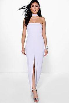 Hannia High Neck Bandeau Maxi Dress