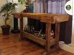 reclaimed barn wood garden table