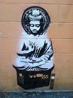 Street Buddha by RealKaBoomArt.deviantart.com on @DeviantArt