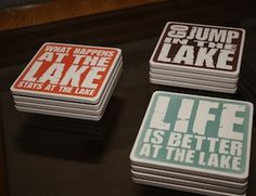 Lake Saying Coasters -- Lakehouse Lifestyle Online Store