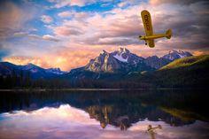 Piper J3 Cub over Stanley, Idaho by Greg Sims, via 500px