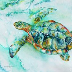 Florida Book News: 2011 Sea Turtle Festival Art and Wine Event Sea Turtle Painting, Sea Turtle Art, Sea Turtles, Baby Turtles, Watercolor Sea, Watercolor Animals, Watercolor Tattoo, Watercolor Paintings, Alcohol Ink Painting