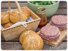 Burger Buns Laugen Brötchen BBQ Grillen