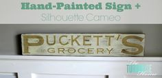 How to make a hand-painted sign with a Silhouette Cameo   TheTurquoiseHome.com