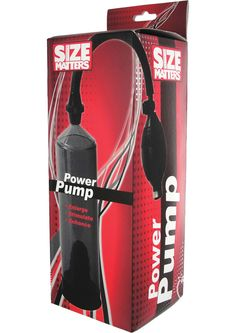 """POWER PUMP - This penis pump is ideal for beginners who want to increase the size of their cock. The device creates a tight vacuum seal around the penis, causing intense suction and additional mass. The pump has a quick air release control, pneumatic bulb, latex ring for a tight seal and a see-thru cylinder to monitor the results.   Size  Cylinder  Length: Approximately 9""""  Circumference; 7.5"""" at widest point, approximately 2.5"""" at widest point  Hose  Length: 14.5"""""""