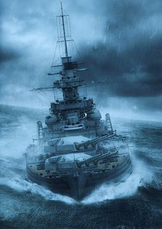 "Gneisenau battleship illustration for a cover of a Swedish book ""Kanalgenombrottet. Historien om operation Cerberus, written by Michael Tamelander and Jonas Hård af Segerstad. This was done in cooperation with Mariusz Motyka (mujas - author… Military Art, Military History, World Of Warships Wallpaper, Sextant Tattoo, Poder Naval, Bateau Yacht, Us Navy Ships, Naval History, Ship Art"