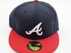 watch 0cf12 f22aa Details about Atlanta Braves New Era 59Fifty MLB Baseball Hat Cap 7 3 8  Fitted Turquoise Blue