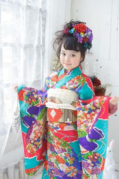 Japanese Costume, Japanese Kimono, Japanese Kids, Rouge The Bat, Kid Poses, Japanese Outfits, Beautiful Children, Costumes For Women, Traditional Outfits