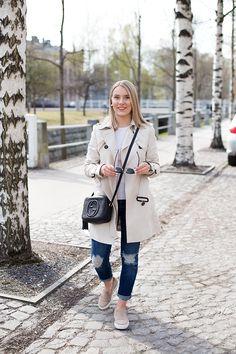 Zara jacket, Massimo Dutti shirt, Topshop jeans, Gucci bag, Massimo Dutti slip-on sneakers Fall Lookbook, Bago, Slip, Daniel Wellington, Winter Style, Trench, Style Me, Winter Fashion, Topshop