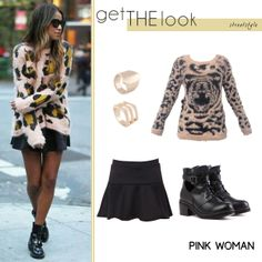 Shop the look Online! http://www.pinkwoman-fashion.com/