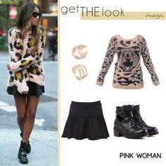 Shop the look Online! http://www.pinkwoman-fashion.com/