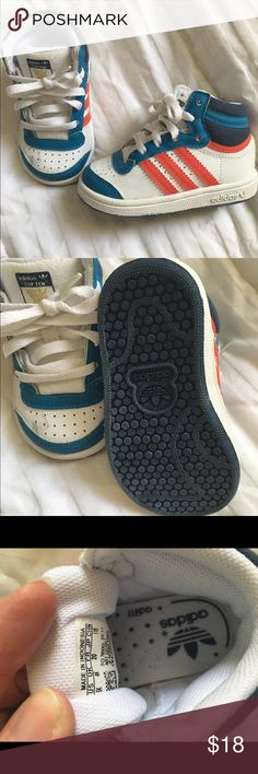 Adidas boy sneakers size 5k Never used and super cute sneakers for boy Adidas Shoes Sneakers
