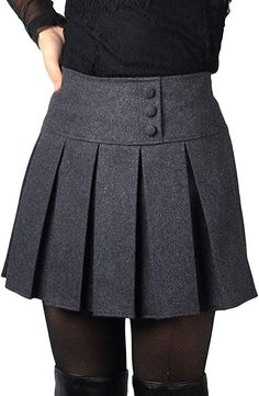 Buy chouyatou Women's Casual Plaid High Waist A-Line Pleated Skirt securely online today at a great price. chouyatou Women's Casual Plaid High Waist A-Line Pleated Skirt availab. Skirt Outfits, Fall Outfits, Fashion Outfits, Women's Fashion, Pleated Mini Skirt, Mini Skirts, Black Skirts, Plus Size Tutu, A Line Skirts