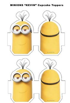 Minions kevin cupcake toppers