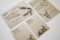 Woodland Animal Wedding Invitation Printable by ThreeEggsDesign, $39.00, Perfect!