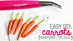 Easy DIY: Miniature Carrots w/Polymer Clay