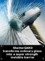 Security Glass Film.  This makes it more difficult to break glass.  It can even stop bullets under certain circumstances.  And after a would be burglar fails to get through a window that just won't break, they may give up and go elsewhere.