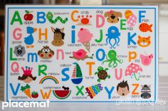 ABC printable collection by Lauren McKinsey :: placemat
