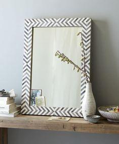 Bathroom Mirror Makeover, Hallway Mirror, Diy Mirror, Floor Mirror, Mirror Ideas, Bathroom Mirrors, Painted Mirror Frames, Bathroom Furniture, Boho Bathroom