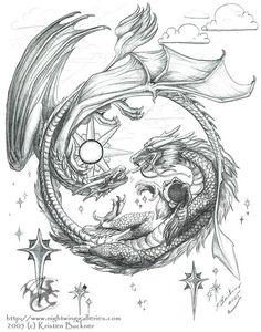 Gaelic and Chinese dragons