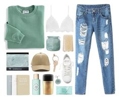 """dream of picket fences and trophy wives"" by shards-of-light ❤ liked on Polyvore featuring Maison Margiela, Golden Goose, MAC Cosmetics, Benefit, Estée Lauder, The Amazing Flameless Candle, Blair, Michael Kors and shardsoflightfashionx"