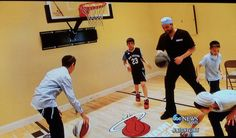 """ABC's Nightline aired an episode on 5/4 about a cosmetic surgeon in Miami, FL nicknamed """"Dr. Miami."""" In the story he is shown playing basketball on a First Team Uni-Sport wall mount basketball goal in his home gym. Here is a screenshot from the episode."""