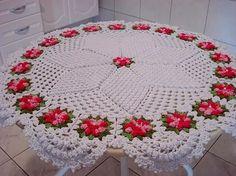 Crochet Doilies – Knitting world and crochet Crochet Flower Tutorial, Crochet Flower Patterns, Crochet Stitches Patterns, Doily Patterns, Crochet Motif, Crochet Doilies, Crochet Flowers, Beading Patterns, Crochet Table Runner