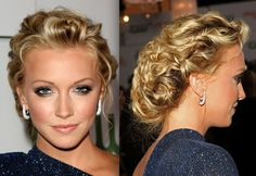 prom hairstyles updos with braids and curls Prom Hairstyles For Long Hair, Up Hairstyles, Wedding Hairstyles, Hairstyle Ideas, Popular Hairstyles, Short Hair, Cabelo Pin Up, Peinados Pin Up, Hair Styles 2014