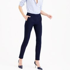 """We cut our newest pant obsession to sit just above the hip and gave it a skinny leg. It's made out of a superstretchy fabric, so it's crazy comfortable and flattering—and will probably send your tailor into a spiral of self-doubt. <ul><li>Sits above hip.</li><li>Fitted through hip and thigh, with a skinny leg.</li><li>29"""" inseam.</li><li>Cotton/nylon with stretch.</li><li>Slant pockets, back welt pockets.</li><li>Machine wash.</li><li>Import.</li></ul>"""