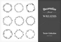 9 Floral Wreaths by Solana on @creativework247