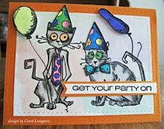 Image result for tim holtz crazy cats cards.  (Pin#1: Crazies: Birds, Cats,....).