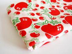 Vintage 1960s 60s Cotton Apple Fabric I Like You 29 x 1.5 Yards via Etsy