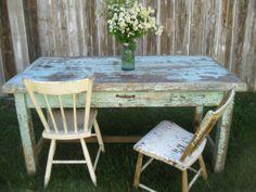 work tabl, farmhous work, eggs, robin egg blue, farmhouse, rustic weddings, paint, primit farmhous, blues