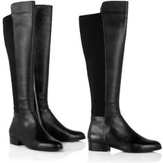 Michael Kors Bromley Riding Boot 5.5 Black Leather Fashion - Over the Knee $250 #MichaelKors #FashionOvertheKnee