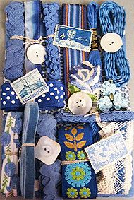 the blues: embellishments for Crazy quilts or anything else your heart desires.