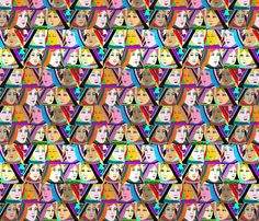 All Queens fabric by linsart on Spoonflower - custom fabric