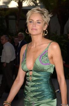 Sharon Stone and her short look
